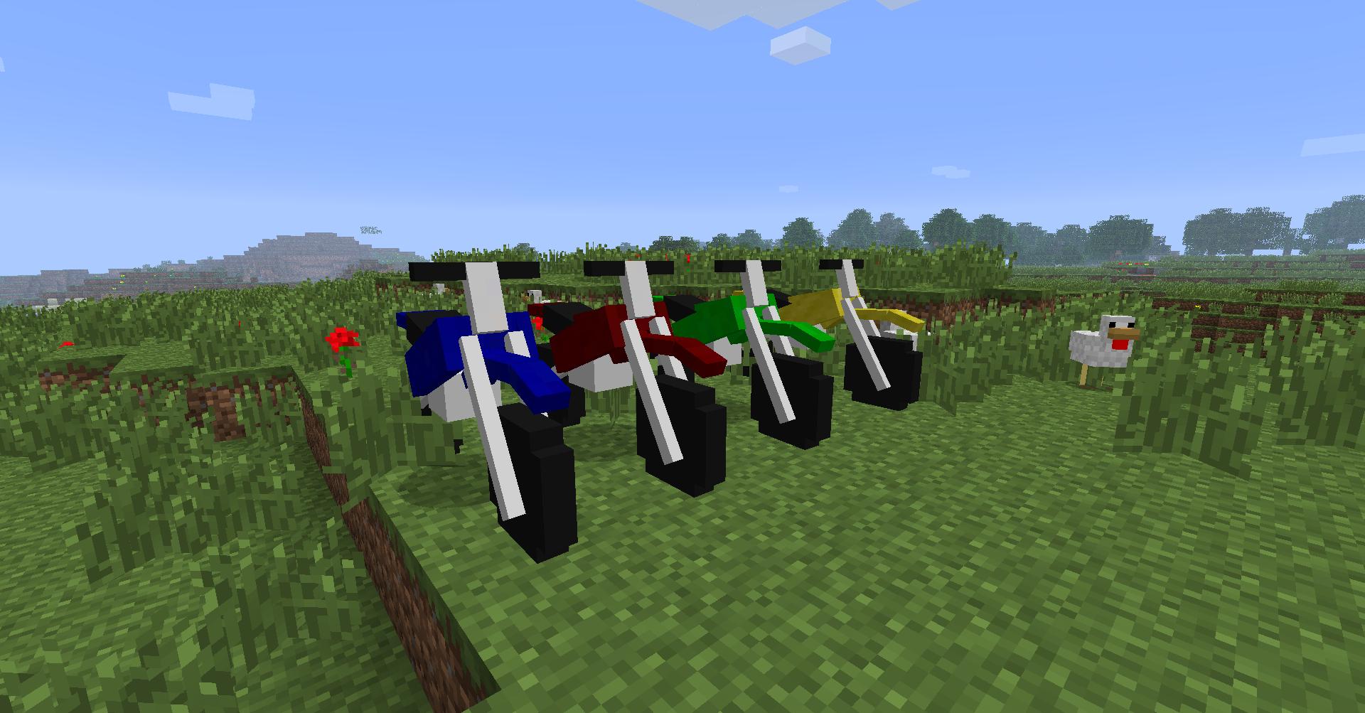 Dirt Bikes Minecraft Mod bikes