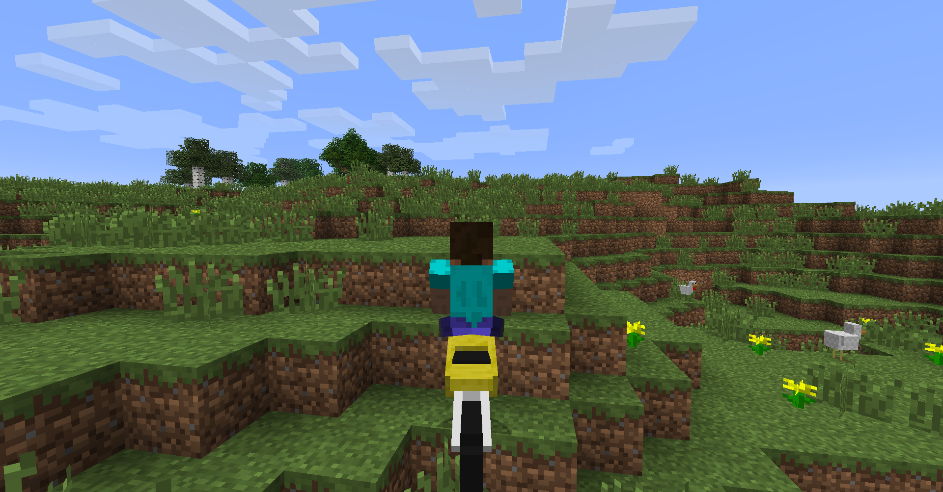 Dirt Bikes Minecraft Mod riding