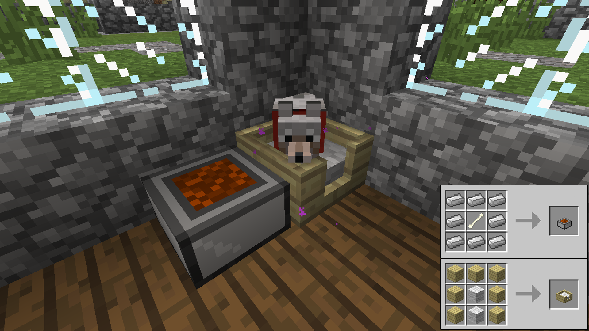 How to make a bed in minecraft 59