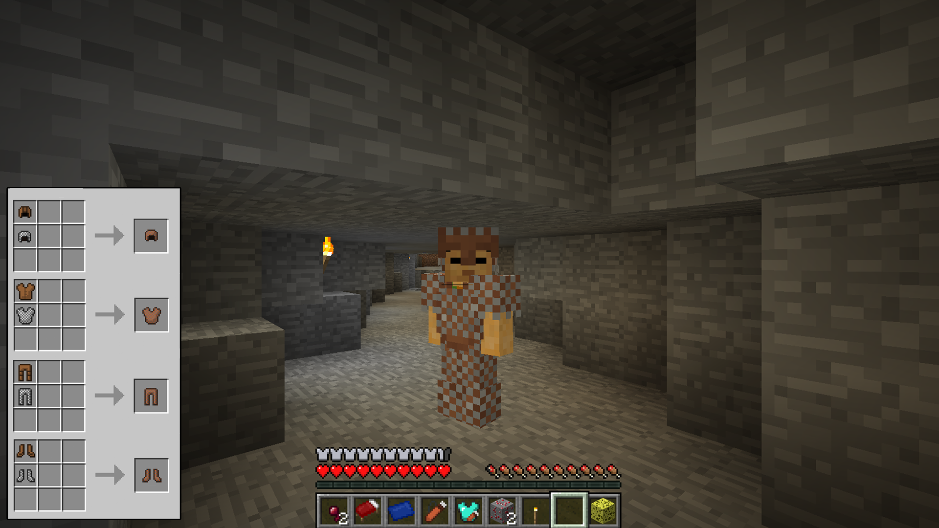 how to make chain armor on minecraft