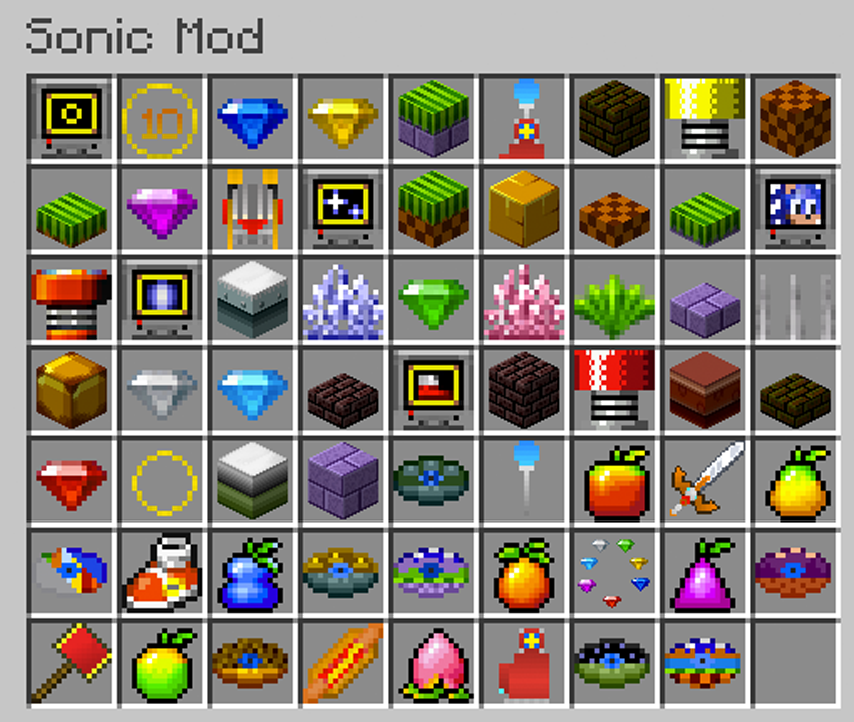 Sonic The Hedgehog Mod 1 7 10 Minecraft Mods