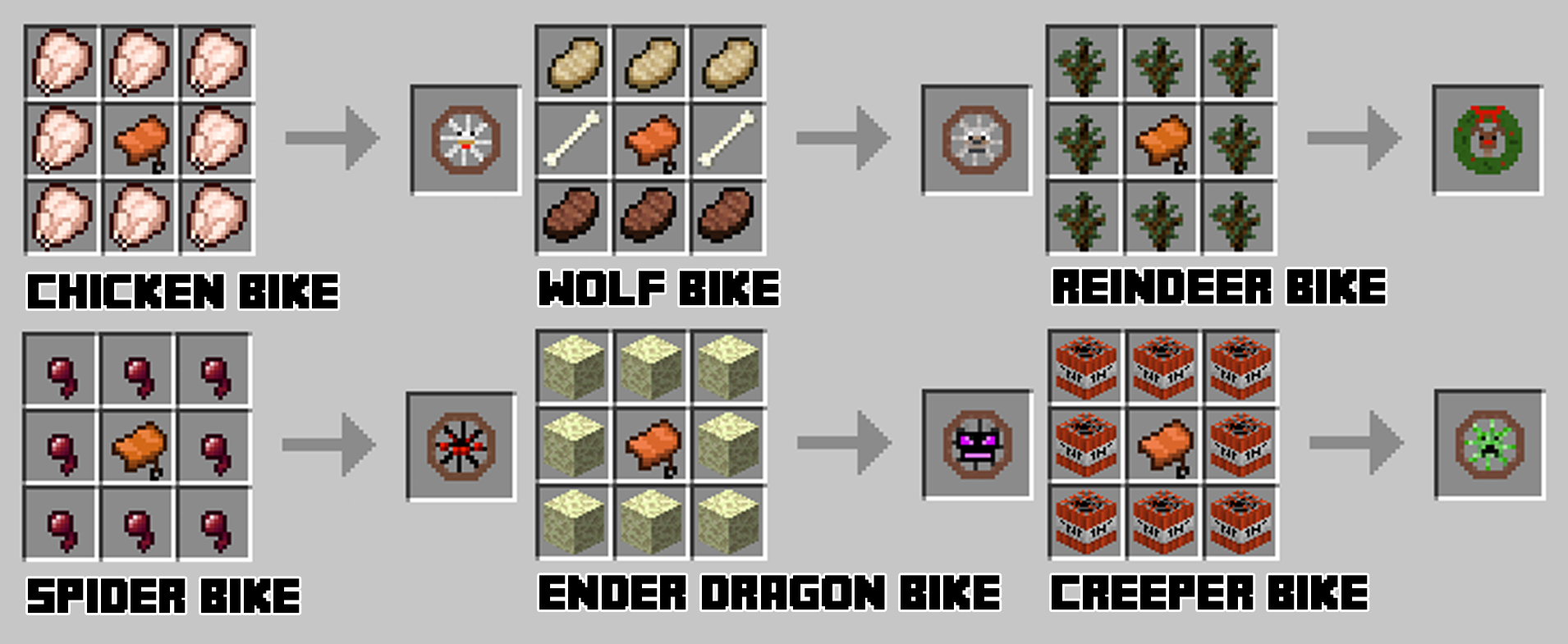 Download Minecraft Animal Bikes Mod This mod does also add a few