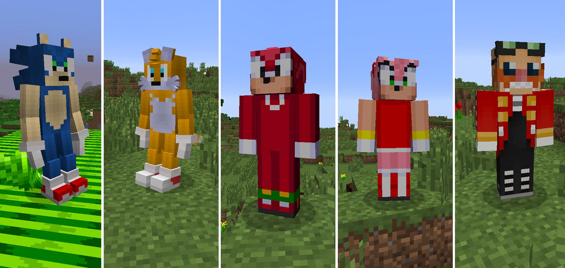 Sonic The Hedgehog Mod Minecraft Mods - Skins fur minecraft installieren