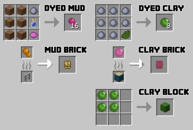 Crafting Clay Mod