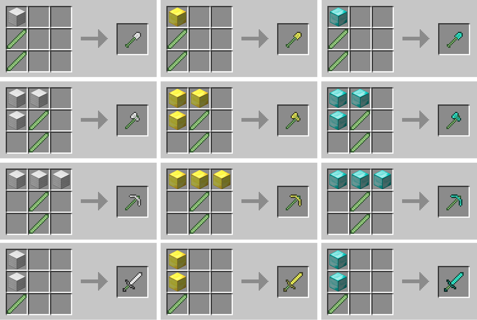 Minecraft   Crafting Recipes Fence