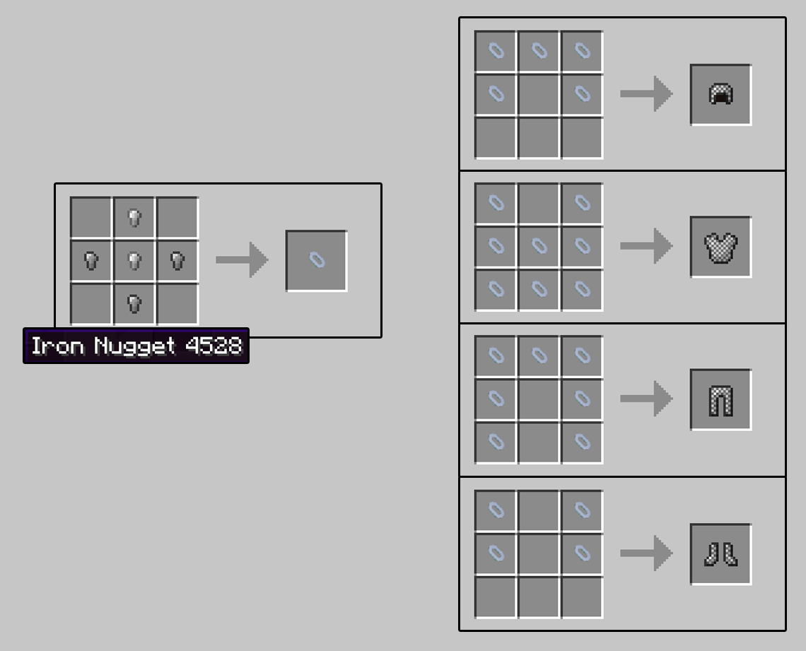 How to make armor in Minecraft 20