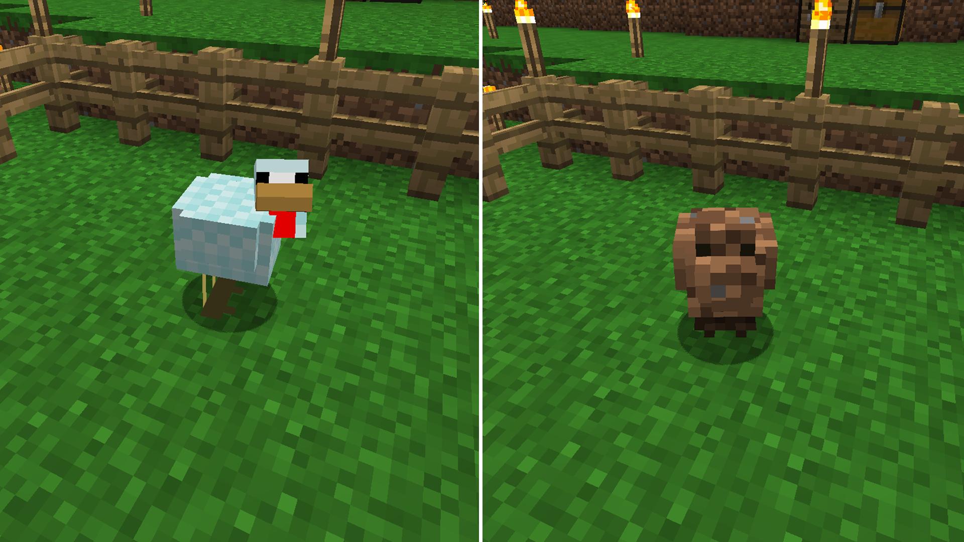 Chickens Mine Craft