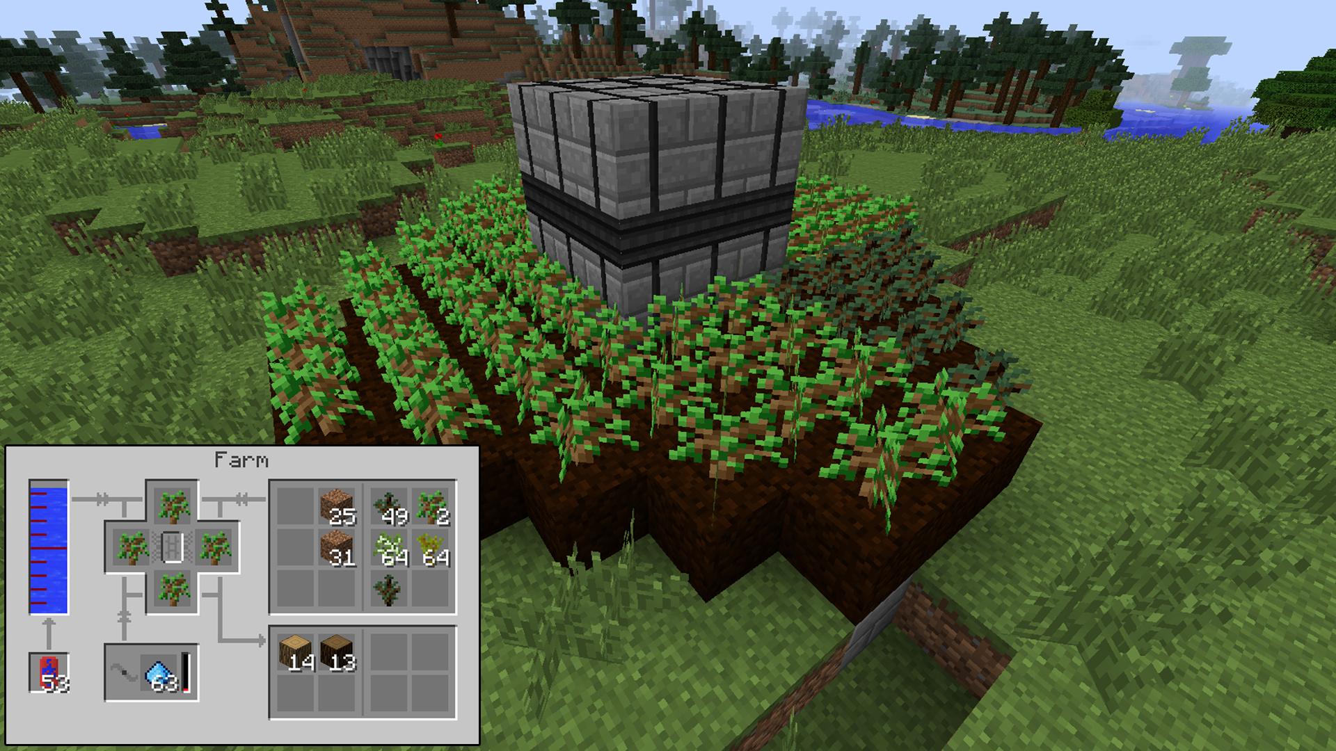 minecraft forestry tree farm