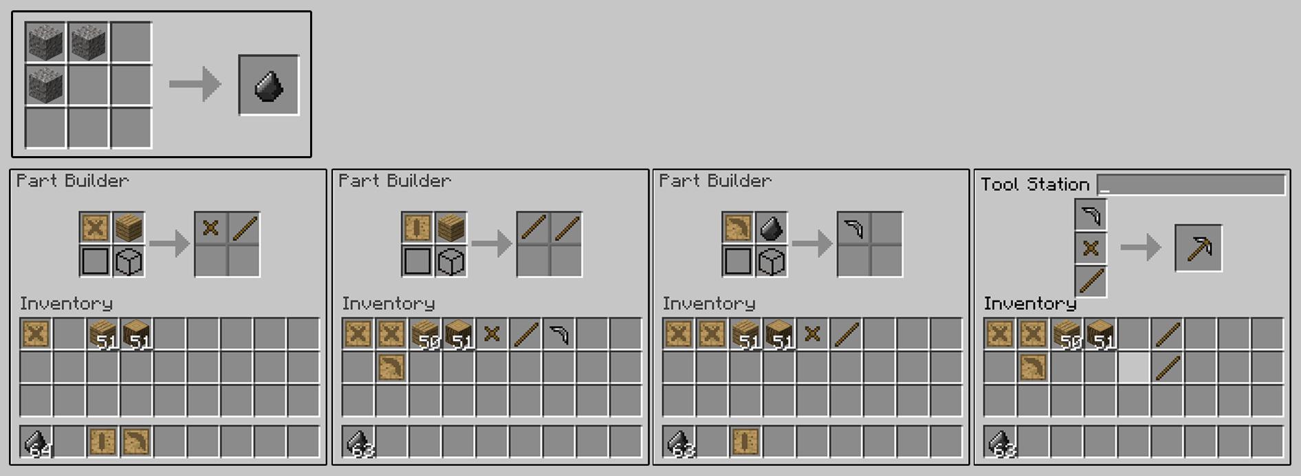 Как сделать бумажный прочный стержень в tinkers construct