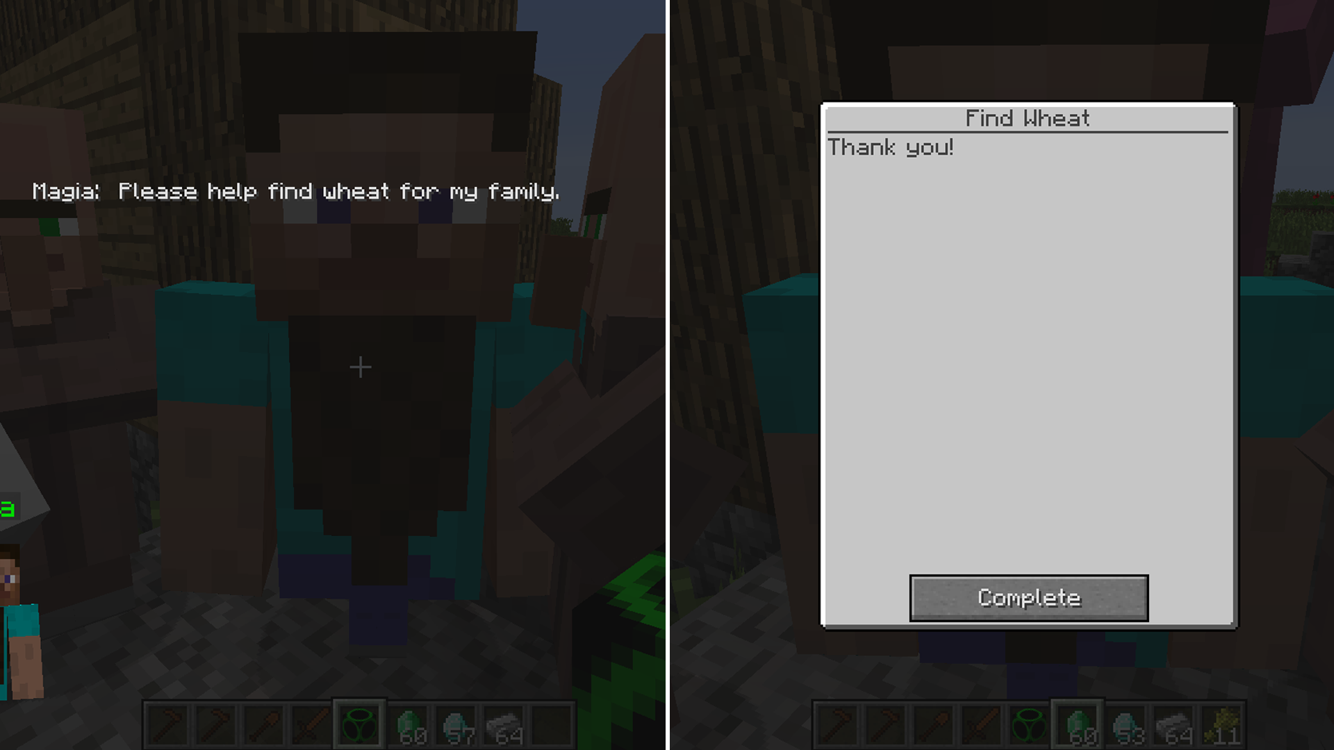 Custom NPCs Minecraft Mods - Villager skin fur minecraft pe