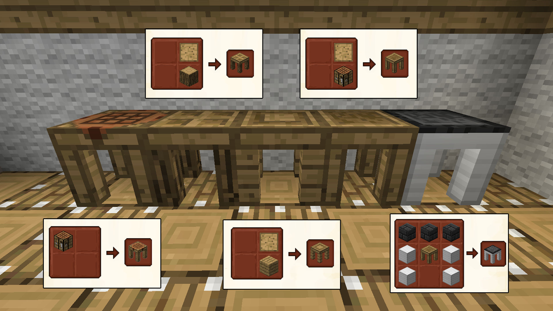 How Do You Make The Tinker Crafting Tables In Minecraft
