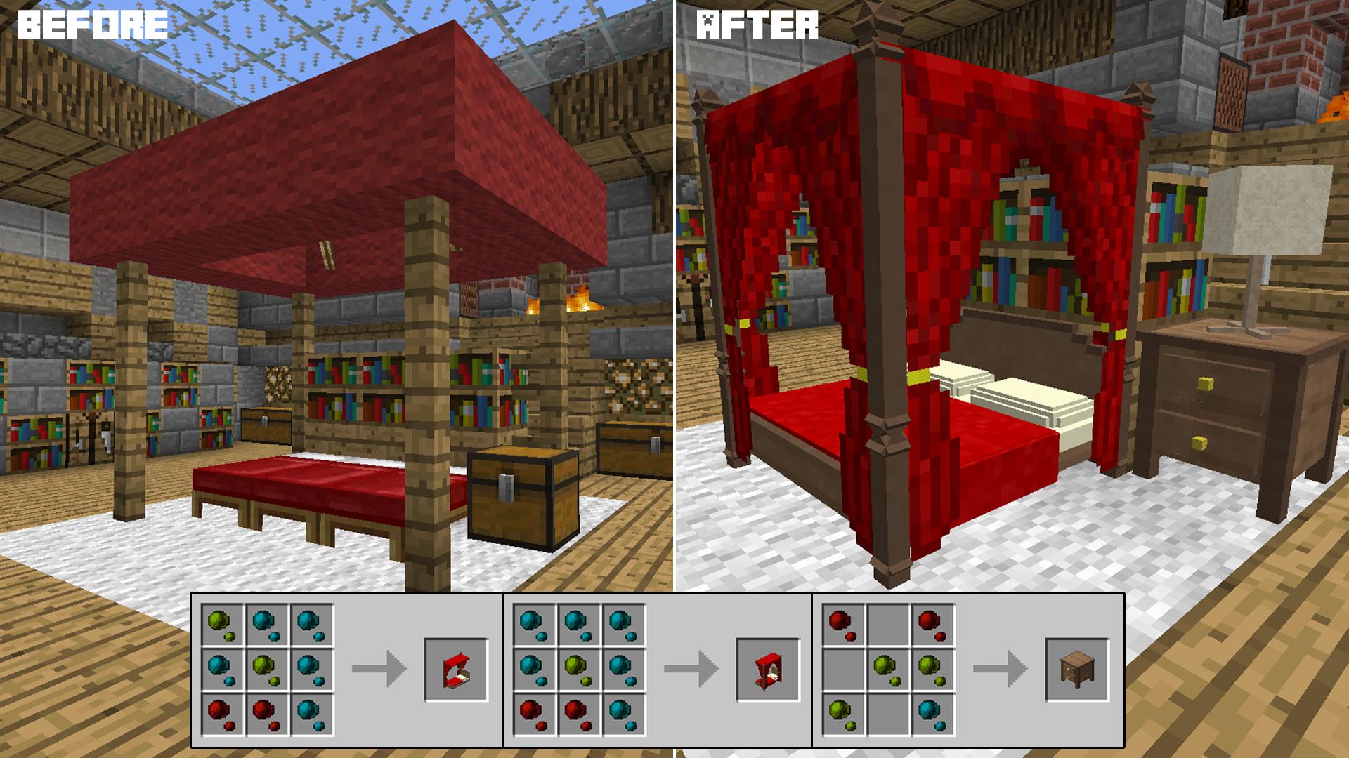 bedroom. Decocraft   Minecraft Mods