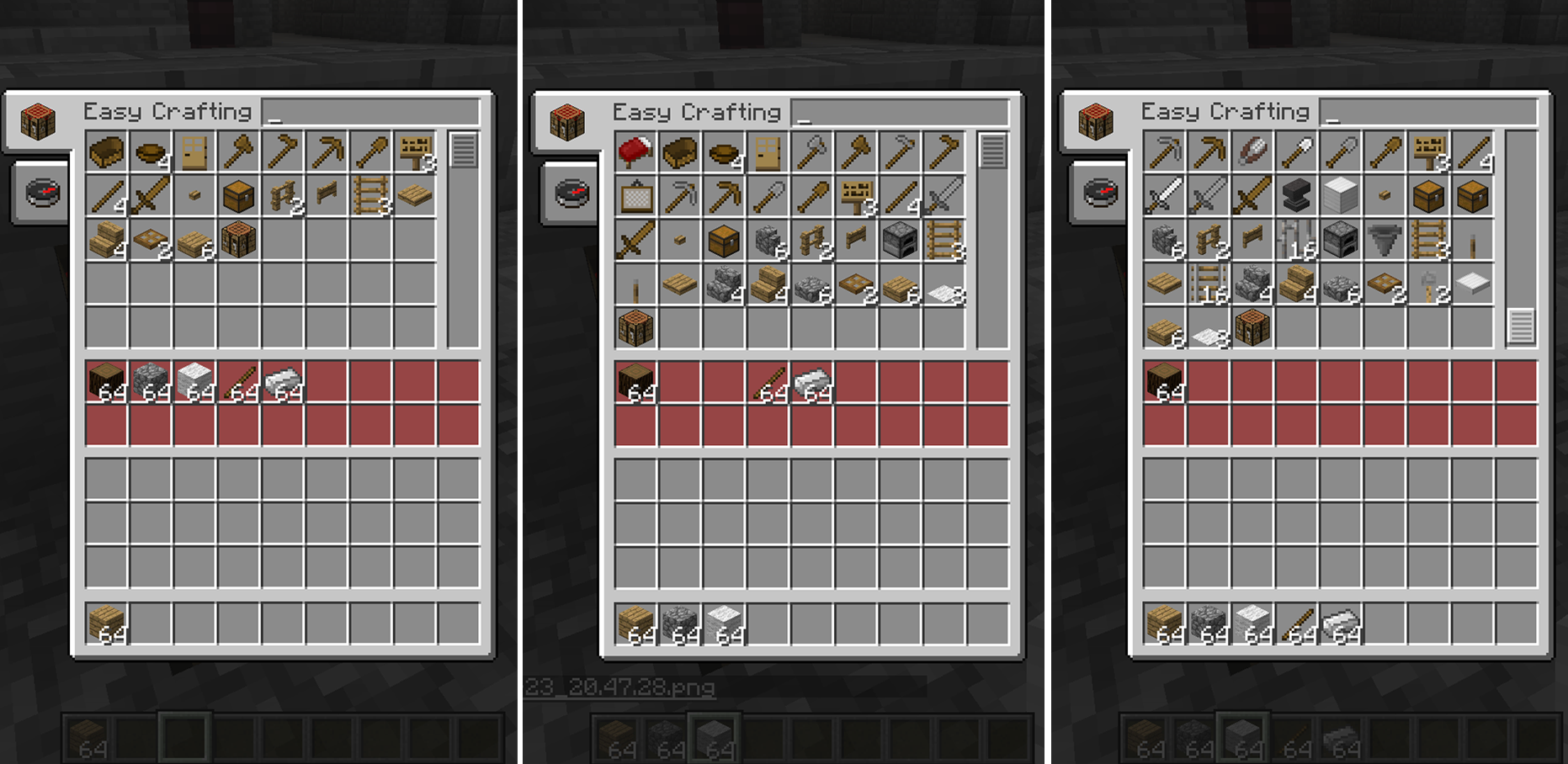 Minecraft all items crafting guide