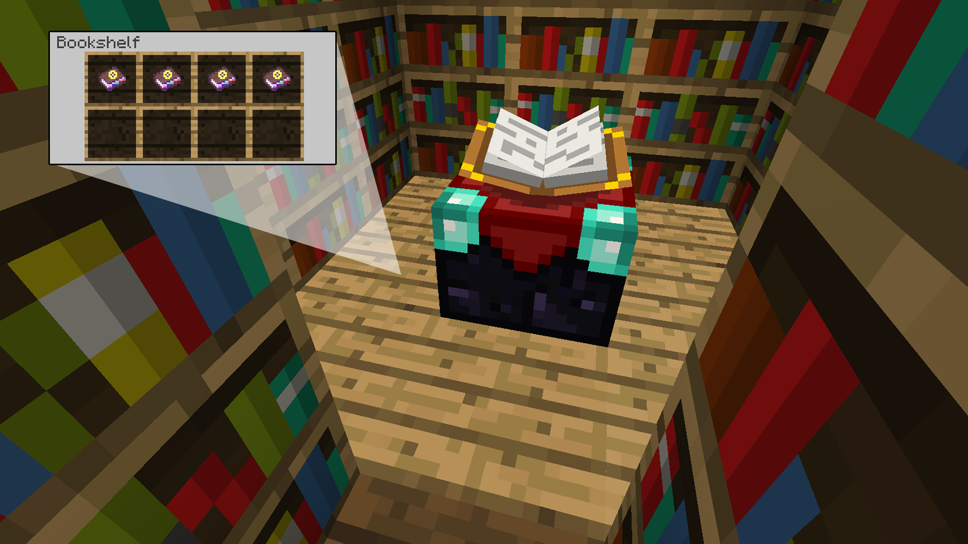 Superb img of Enhanced Books Minecraft Mods with #21836C color and 1920x1080 pixels