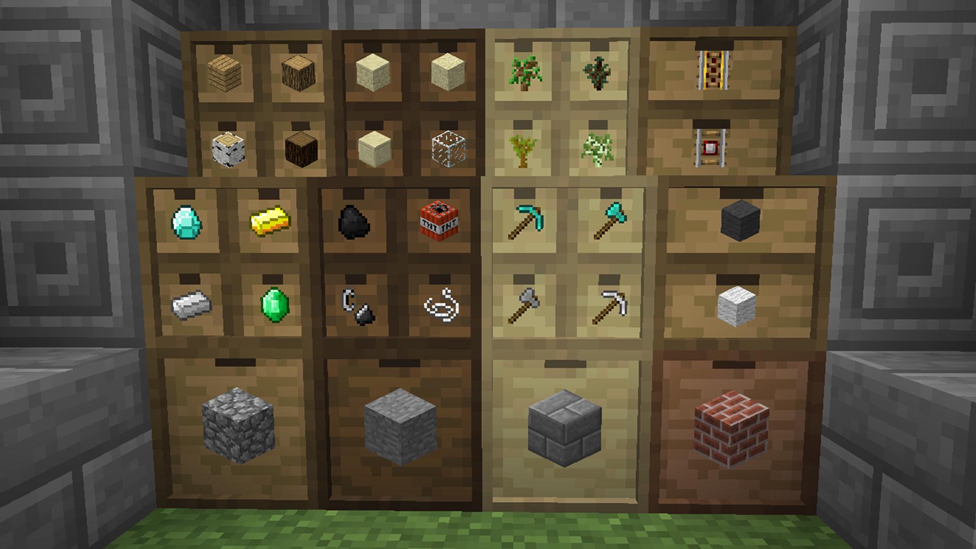minecraft storage drawers lock