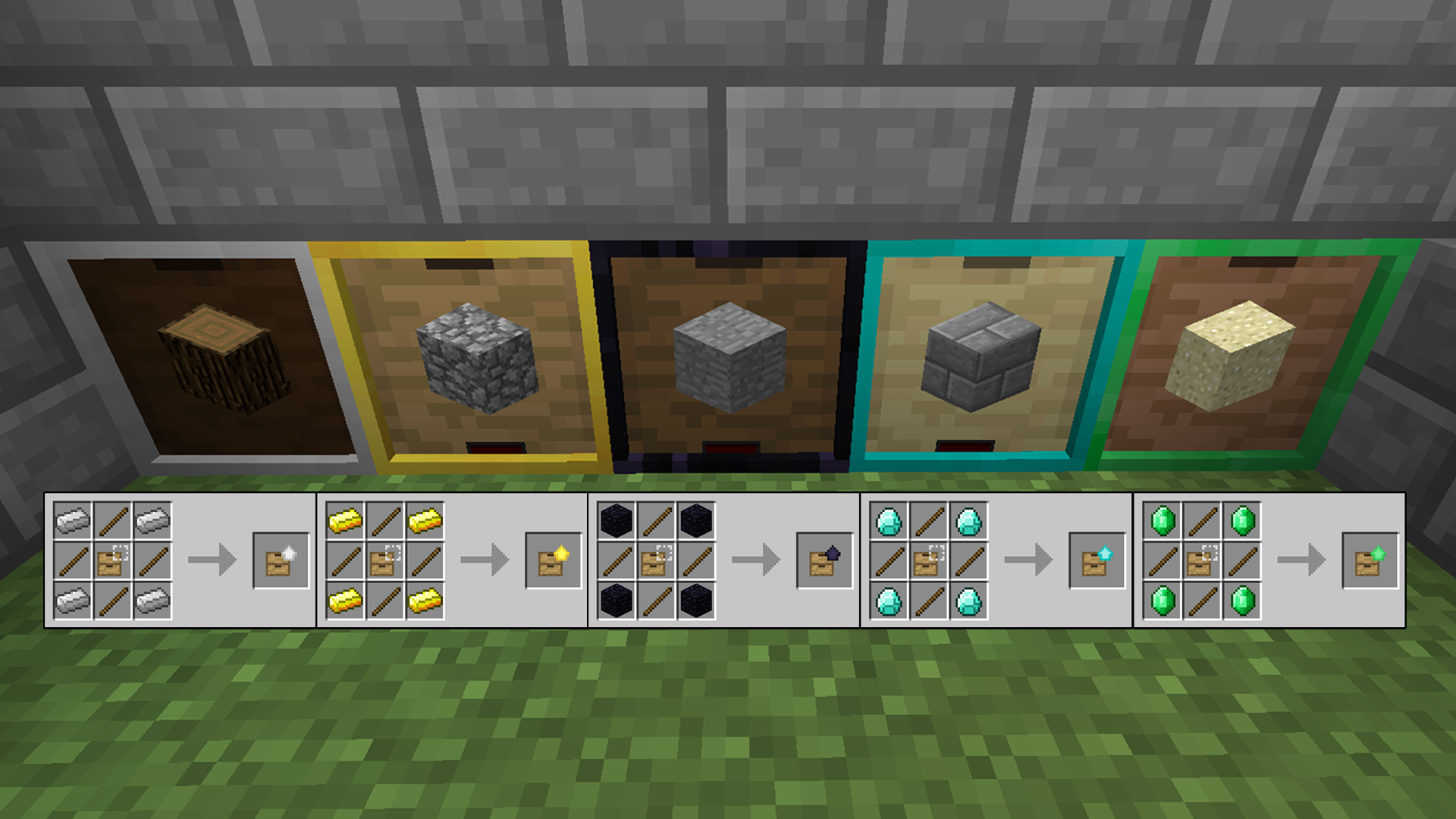 How To Craft Storage Drawers Minecraft
