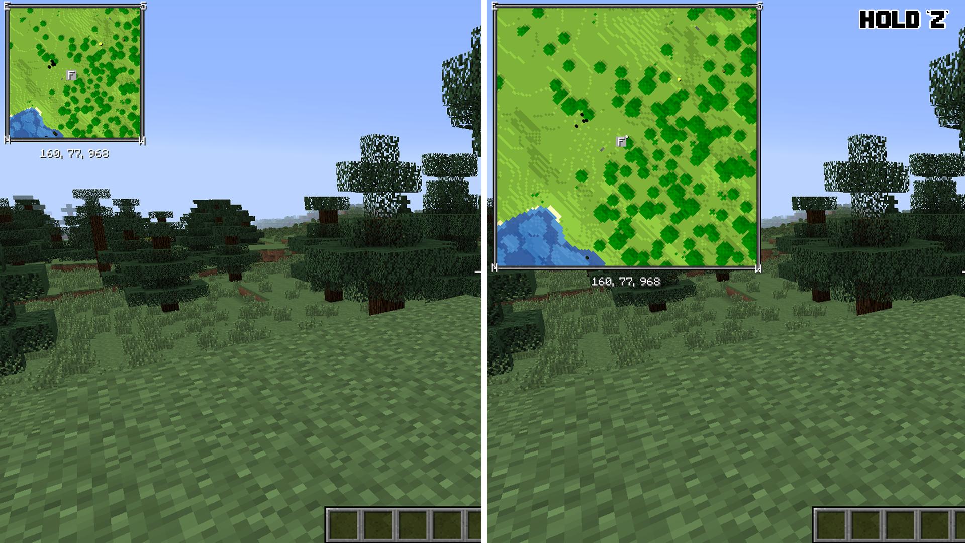Xaeros Minimap Minecraft Mods - Minecraft single player teleport command