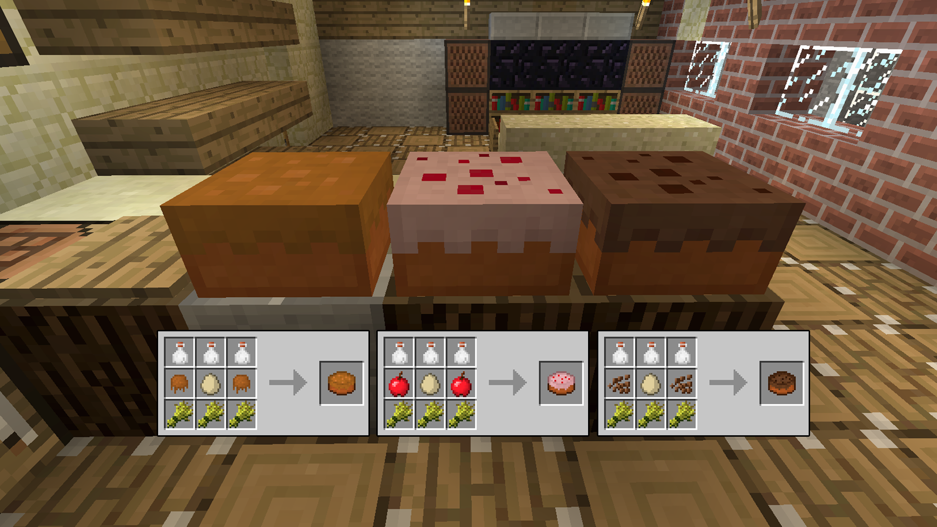 Crafting Recipe For A Cake In Minecraft