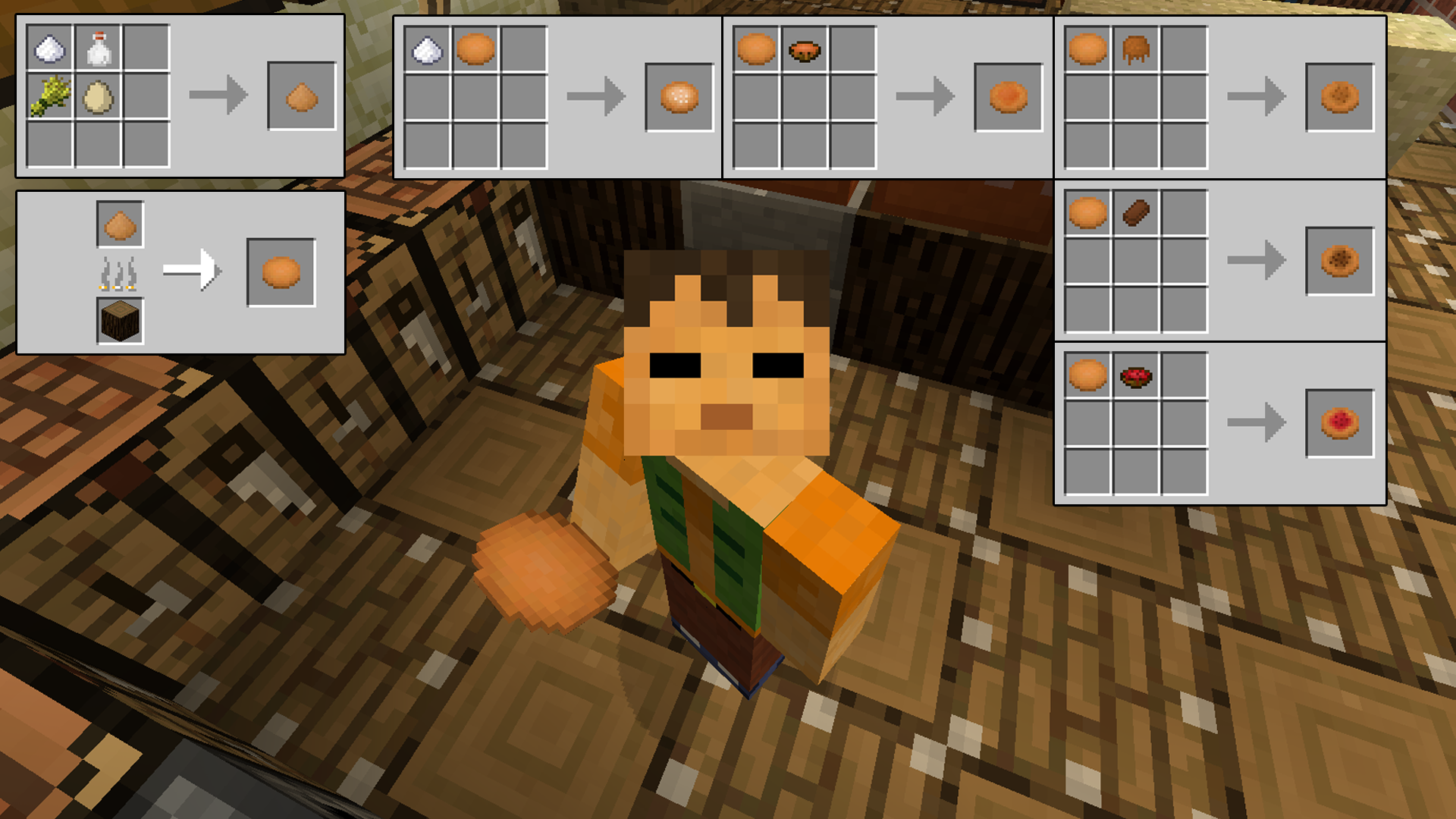 minecraft how to get food heads