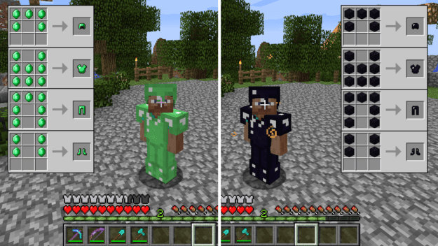 Emerald & Obsidian Armor/Tools (1 8) | Minecraft Mods