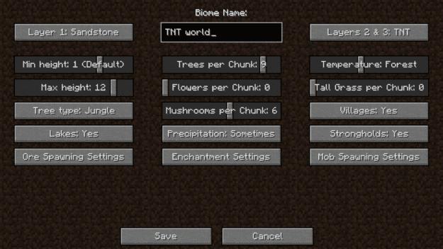 [Mods][1.7.10-1.10.2] MyBiomes - создавай свои биомы!