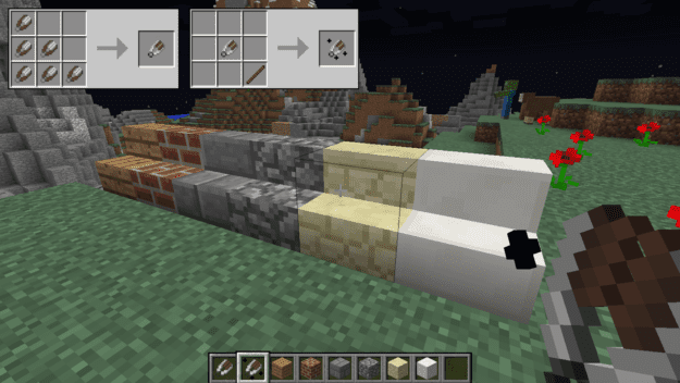 You Can Carve Into Any Block That Is Already A Stair Craftable Block, Such  As Wood Planks, Bricks, And Sandstone.