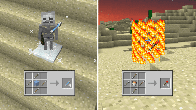 how to make a fire bow on minecraft