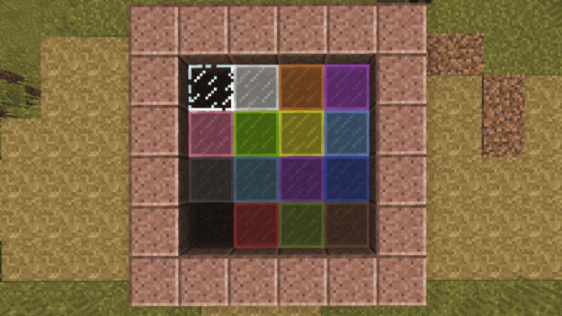 How to make horizontal glass panes in minecraft